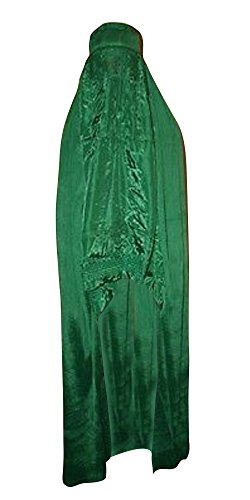 Desert Dress Authentic Damen afghanischen Burka Burka Schwarz, Blau, Rot, Braun, Weiß Jilbab Abaya Afghanistan Taliban Schleier Niqab - Free Size Coole Kaftane (Green grün) - 1
