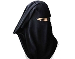 Traditional Black Burqa Hood Burqua Fancy Dress Traditional Sharia burka Head-Wear Hijab - 1